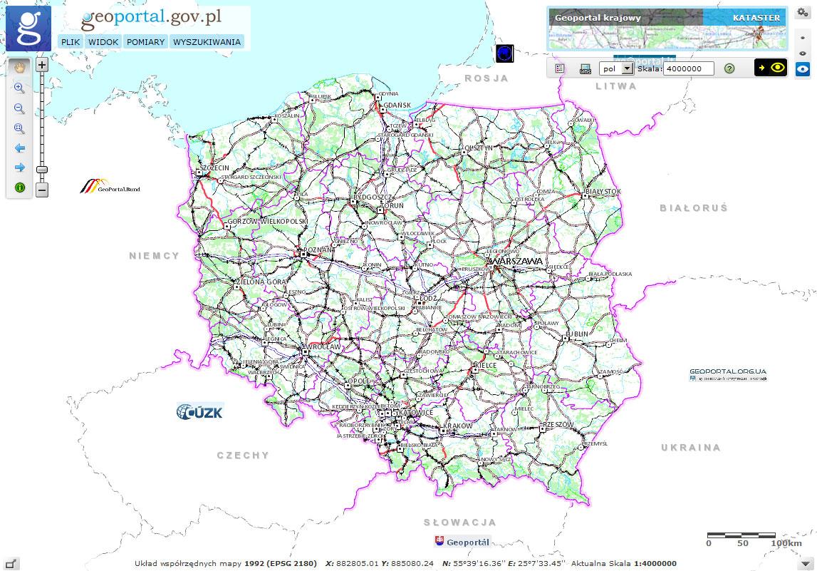 Geoportal krajowy geoportal 2 for Z portal